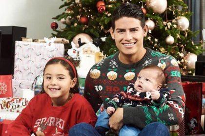 James Rodríguez y sus dos hijos