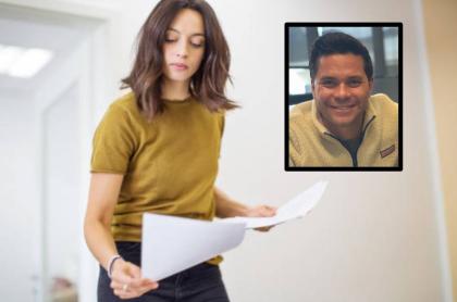 Trabajadora y Luis Carlos Vélez
