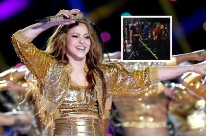 Shakira bailando