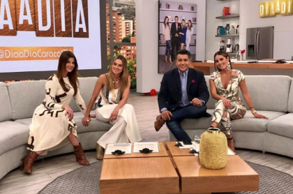 Carolina Cruz, Catalina Gómez, Carlos Calero y Carolina Soto, presentadores.
