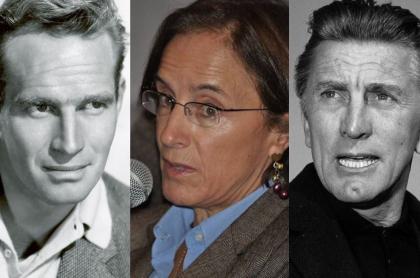 Charlton Heston, Salud Hernández y Kirk Douglas