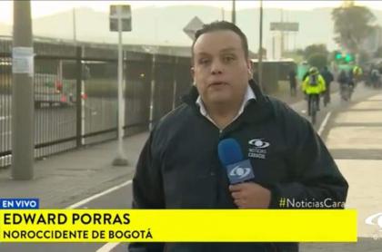 Edward Porras, periodista de Noticias Caracol