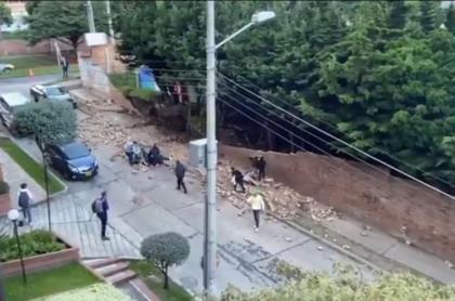 Desplome de muro en la avenida Circunvalar con calle 70