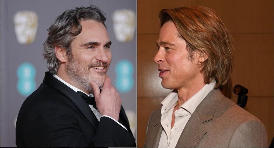 Joaquin Phoenix y Brad Pitt, actores.
