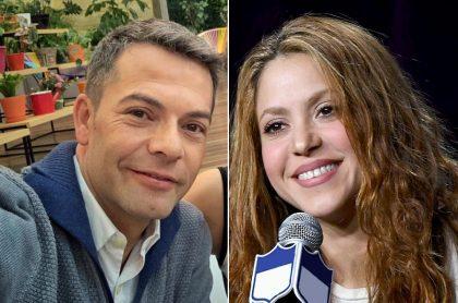 Iván Lalinde, presentador, y Shakira, cantante.