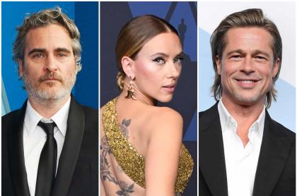 Joaquion Phoenix, Scarlett Johansson y Brad Pitt