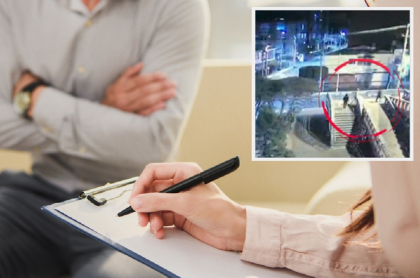 Foto de referencia / Captura del video en el que se aprecia a los delincuentes siguiendo al médico.