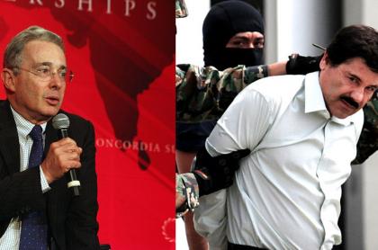 Álvaro Uribe y 'El Chapo' Guzmán