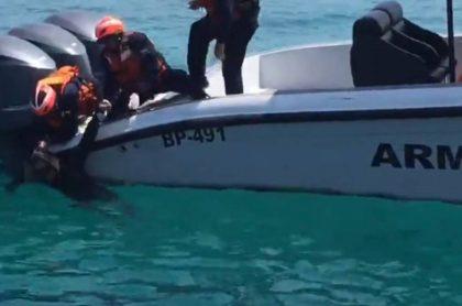 Extranjero rescatado del mar en Islas del Rosario