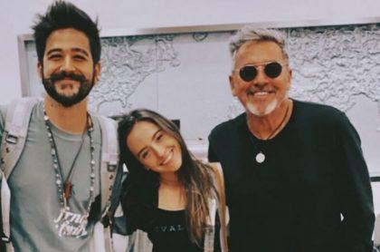 Camilo Echeverry, Evaluna Montaner y Ricardo Montaner, cantantes.
