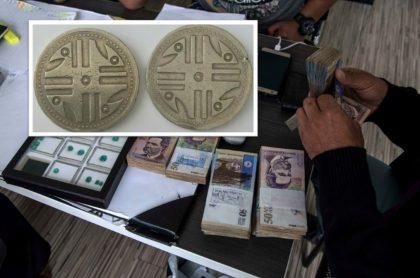 Billetes colombianos.