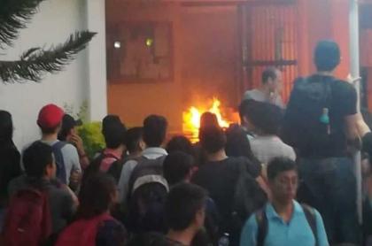 Protesta en la UIS