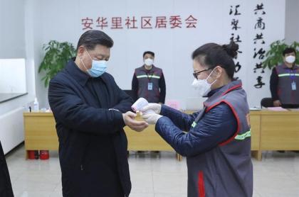 Presidente chino Xi Jinping, durante brote de coronavirus