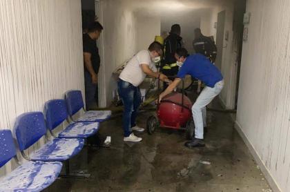 Incendio en hospital del municipio de Mesitas del Colegio