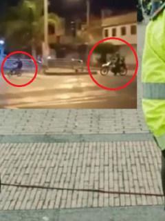 Policía y ciclista