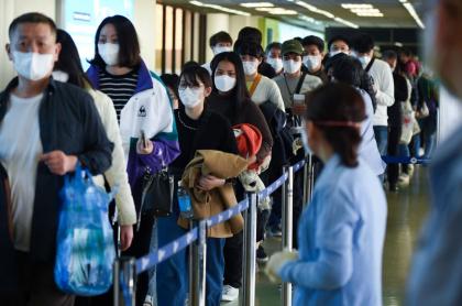 Viajeros durante epidemia de Covid-19
