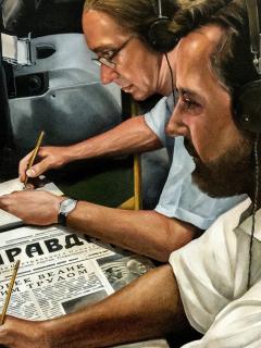 Dibujo sobre espías en escucha