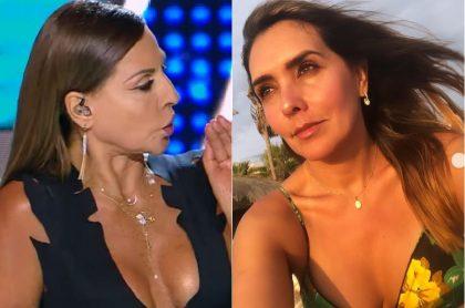 Amparo Grisales, actriz, y Mónica Rodríguez, presentadora.