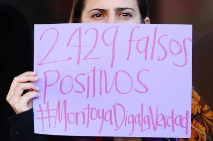 Protesta contra general Mario Montoya