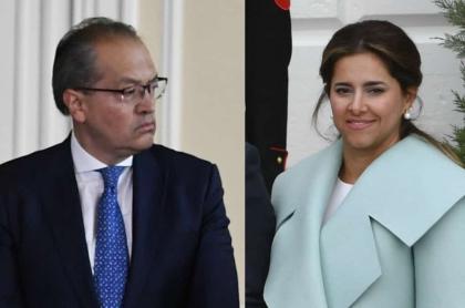 Procurador General, Fernando Carrillo y la primera dama, María Juliana Riuz