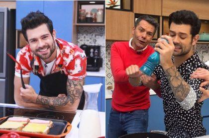 Juan Diego Vanegas, chef, e Iván Lalinde, presentador.