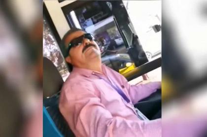 Conductor de bus en México.