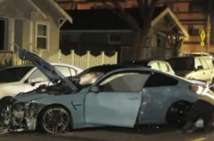 BMW accidentado