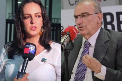 María Fernanda Cabal y Humberto de la Calle