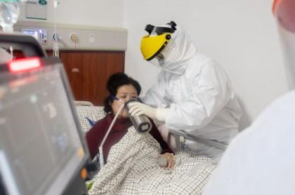 Enfermo de Covid-19 en Wuhan, China