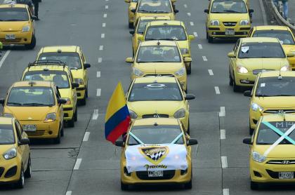 Paro de taxistas.