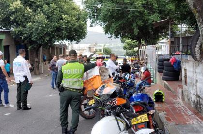Escena del crimen en Cúcuta