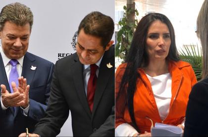 Juan Manuel Santos, expresidente; Germán Vargas Lleras, exvicepresidente; Aída Merlano, excongresista; y Vicky Dávila, periodista.