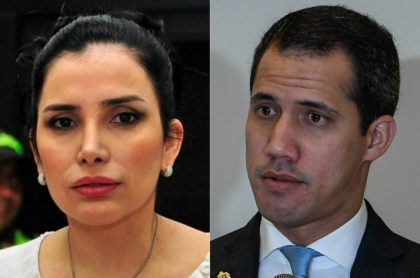 Aída Merlano y Juan Guaidó