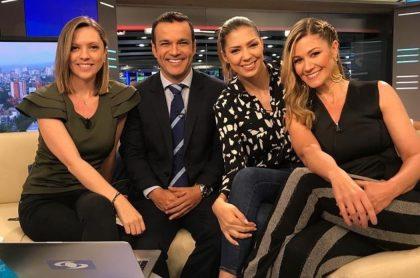 Catalina Gómez, Juan Diego Alvira, Ana María Navarrete y Pilar Schmitt, presentadores.