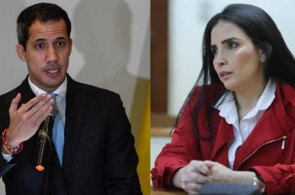 Juan Guaidó y Aída Merlano