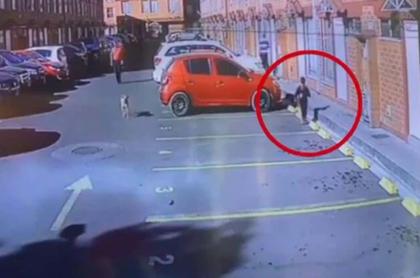 Captura de video del niño llegando a su casa en Bogotá