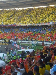 Estadio Metropolitano de Barranquilla en partido de la Selección Colombia