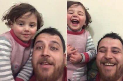 Abdullah y su hija de 4 años