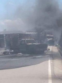 Vehículos quemados en Norte de Santander