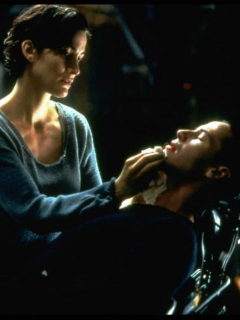 Carrie-Anne Moss y Keanu Reeves