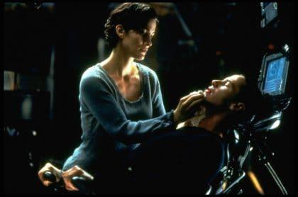 Carrie-Anne Moss y Keanu Reeves