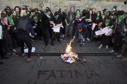 Protesta por asesinato de Fátima