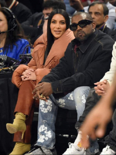 Kim Kardashian y Kayne West.