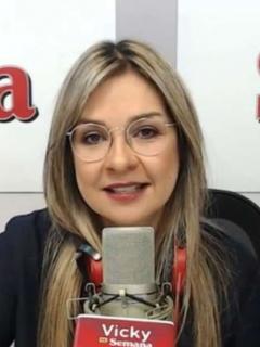 Vicky Dávila en Semana y Canal 1