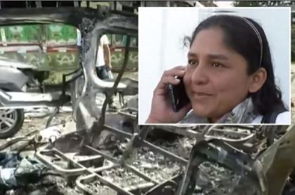 Explosión de van en Cauca