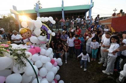 Funeral de Fátima, niña asesinada en México