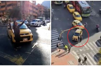 Taxista protesta por Uber.