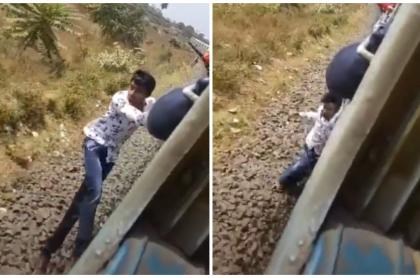 Hombre cae de tren.