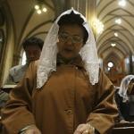 Feligresas de Corea del Sur en misa