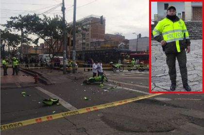 Accidente en el que murió el patrullero Silfredo Enrique Pérez Manga